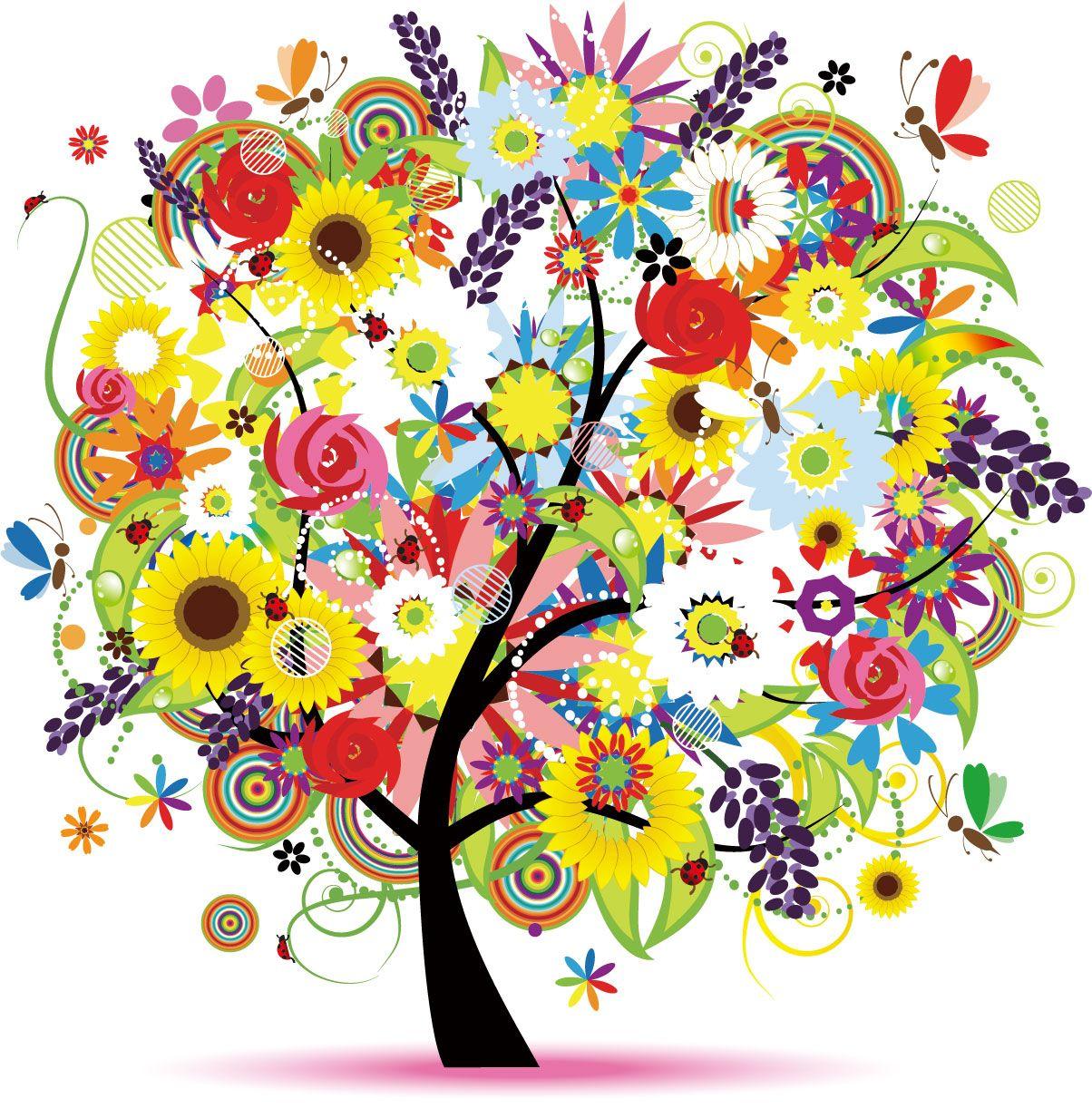 ポップでかわいい花イラスト  | 平面構成 | pinterest | intuition