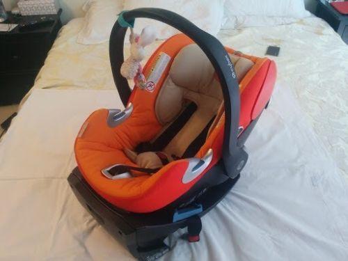 Cybex Aton Q Platinum Infant Car Seat With Base