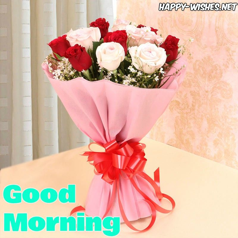 Good Morning Wishes With Rose Bouquet Images Morning Good