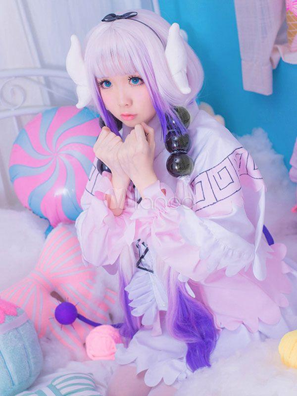 Photo of Miss Kobayashi's Dragon Maid Kanna Kamui Cosplay Costume Halloween #Maid, #Kanna …