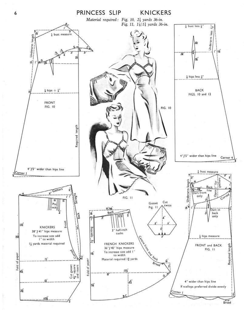 Princess Slip and Knickers Pattern Drafting.