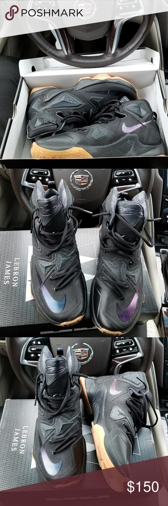 hot sale online 3e25e e8d10 LeBron 13 Black gum bottom (like new worn once) Nike Shoes Athletic Shoes