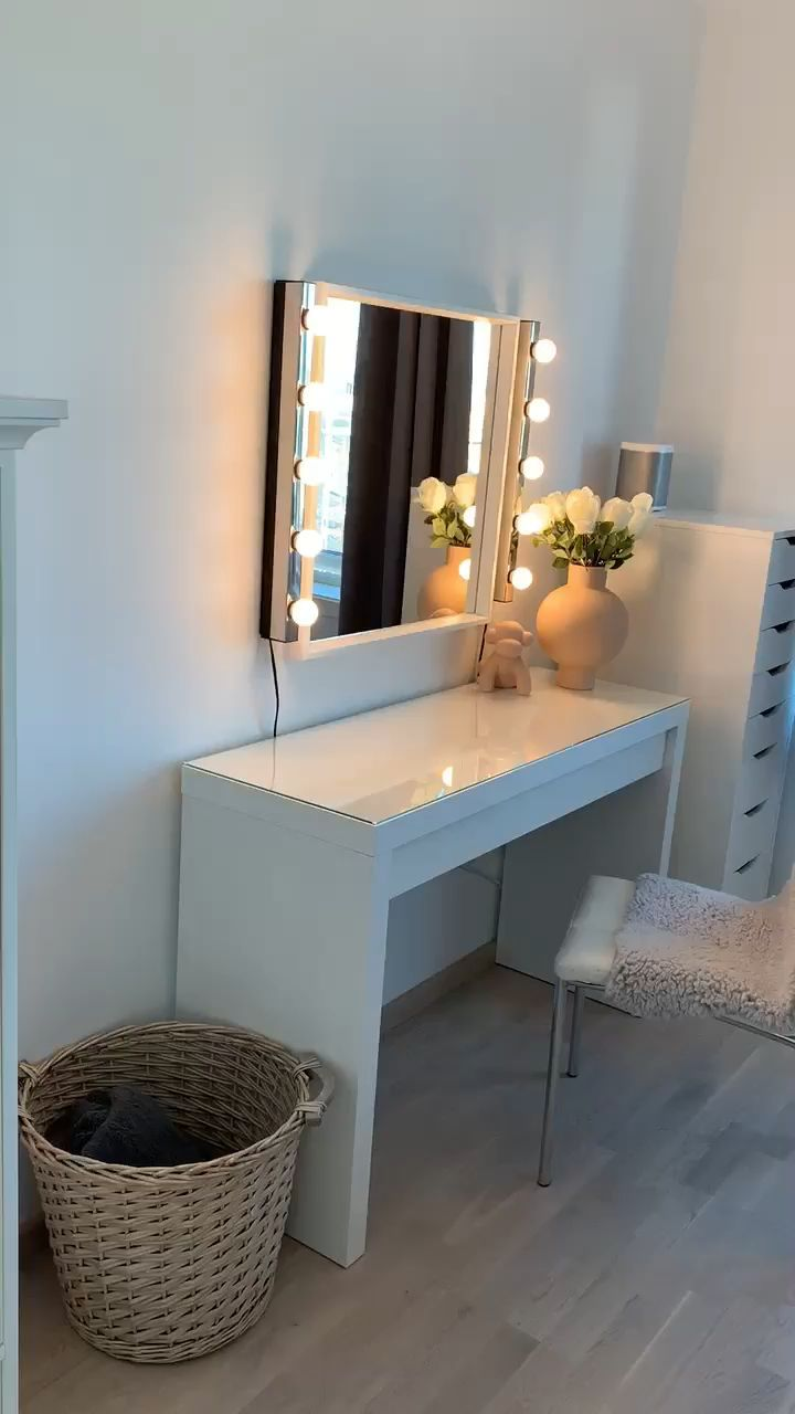 Photo of Erz Schminktisch von Ikea,  #bestbedroomdecor #Erz #IKEA #Sc…