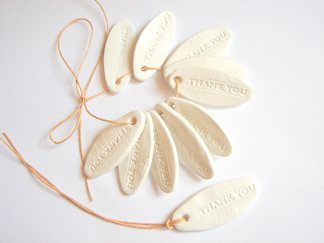 Thank you Tags ,Thank You Wedding Favor Tags - Ceramic Gift Tags ...