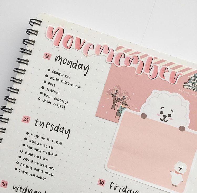 pink aesthetic   Bullet journal aesthetic, Bullet journal ...