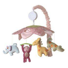 Lambs & Ivy Lollipop Jungle Musical Mobile, (baby mobile, mobiles, crib mobile, mobile, crib toys, nursery mobile, baby bedding, baby girl, bedding sets, crib set)
