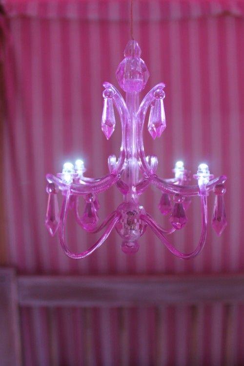 Girls bedroom lamp, led chandelier, pink. Tonny Knoll ...
