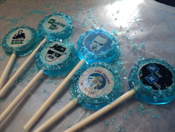 6 BREAKING BAD Blue Meth, Blue Sky Edible Image Lollipops ...