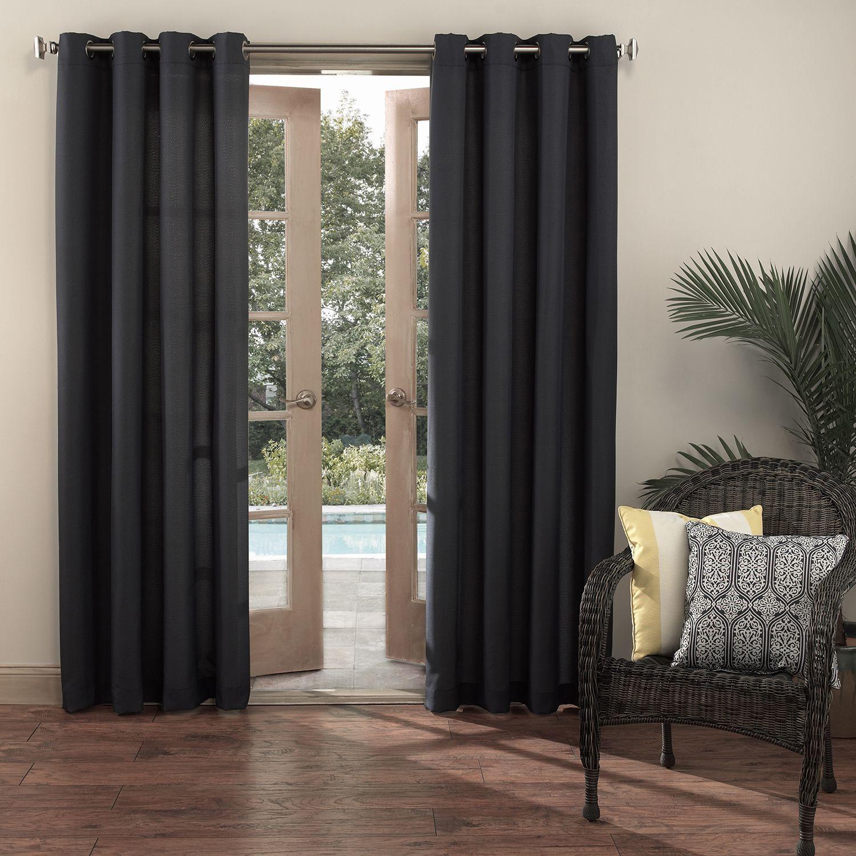 Sun Zero Reed Uv Blocking Indoor Outdoor Woven Single Curtain Panel Indoor Outdoor Curtains Outdoor Curtain Panels Outdoor Curtains
