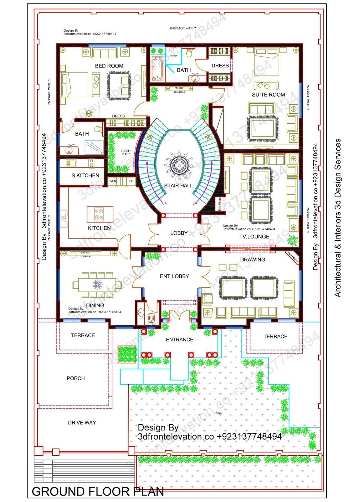 Beautiful Big Corner House Plan Design With Basement Pakistan India Saudi Arabia Afghanistan Dubai Best House Plans Floor Plan Drawing House Plans