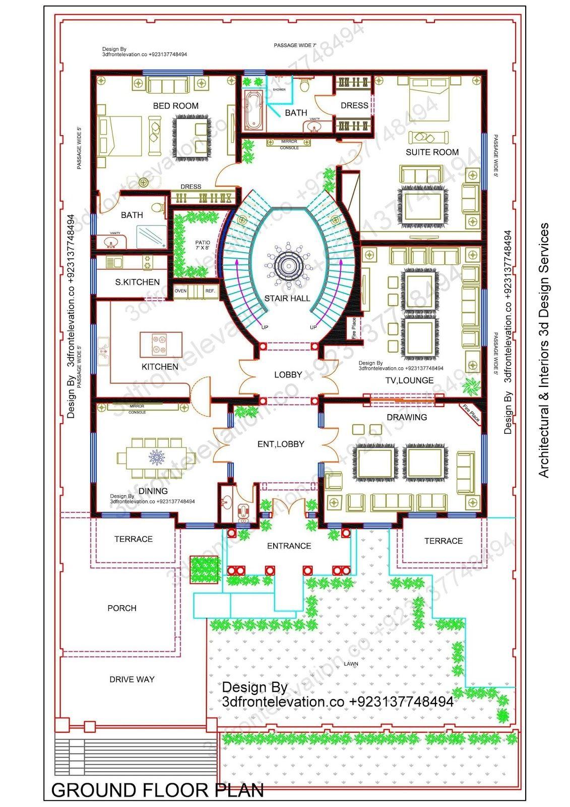 Beautiful Big Corner House Plan Design With Basement Pakistan India Saudi Arabia Afghanistan Dubai Best House Plans House Plans How To Plan