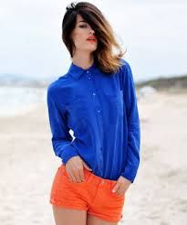 Image result for how to wear makeup with cobalt dress