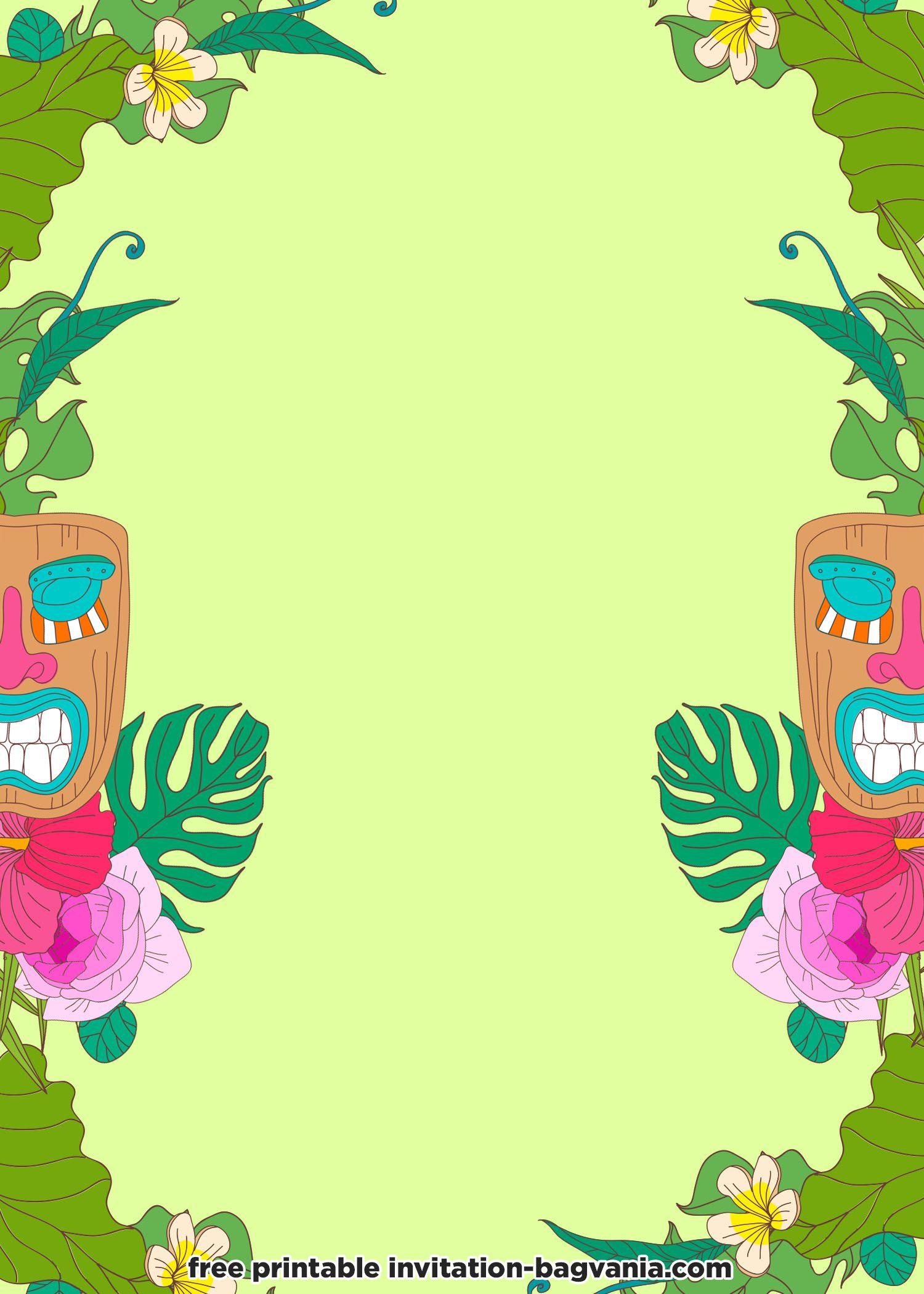 Free hawaiian invitation templates hawaiian invitations