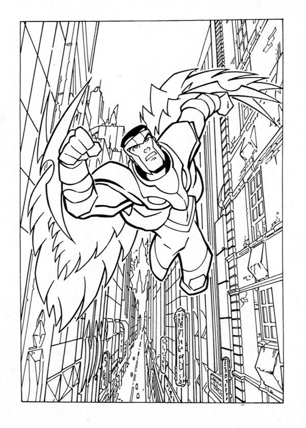 Animated Avengers The Falcon By Popstata Superhero Coloring