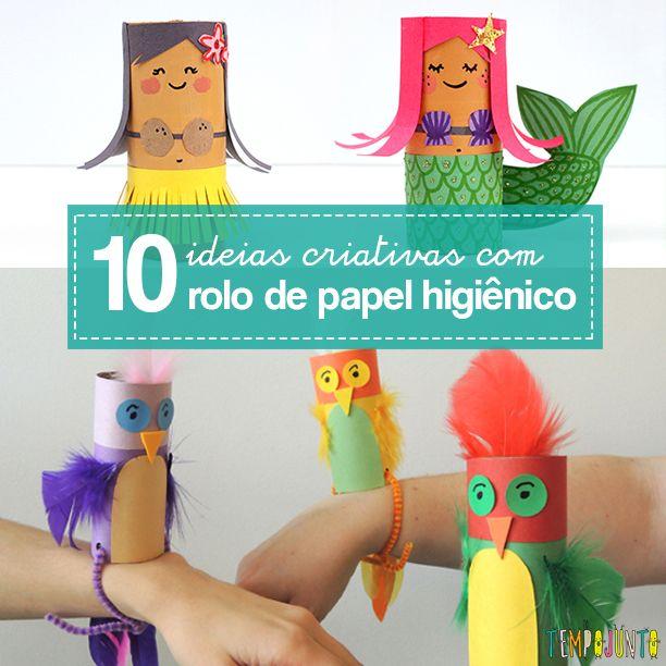 Mais Ideias Criativas Com Rolo De Papel Higienico Rolos De Papel