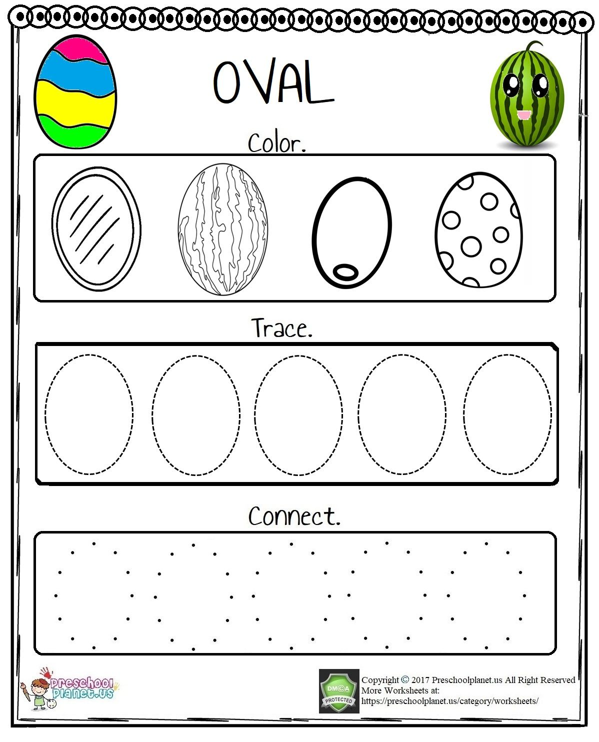Let S Practice Oval Today We Prepared An Oval Worksheet