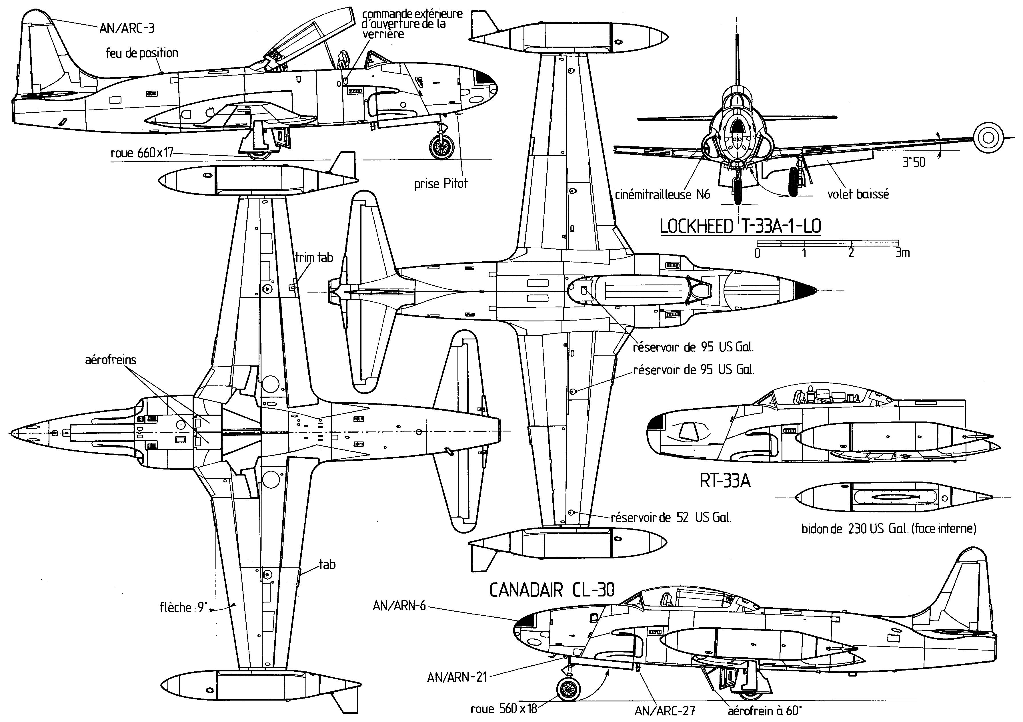 T33 Plan Trois Vues