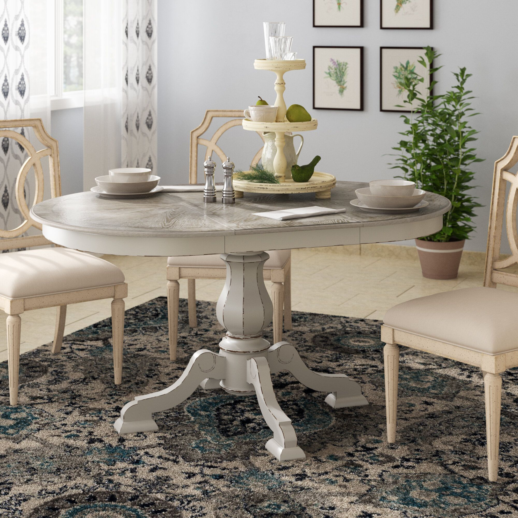Tiphaine Dining Table Dining Table Oval Table Dining Extendable Dining Table