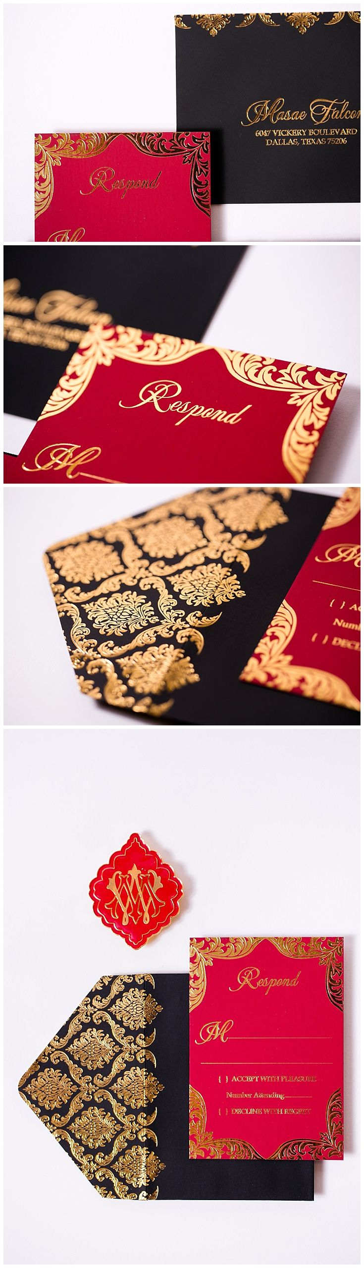 Velvet Wedding Invitations | BLACK INVITATIONS | Pinterest | Red ...
