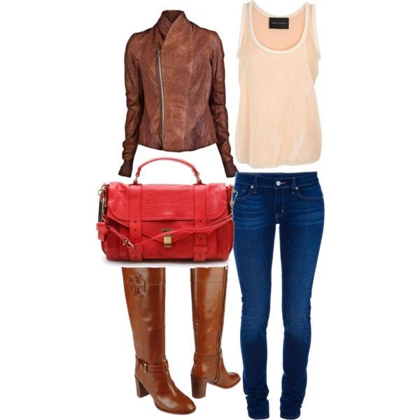 Pink and Leather, created by kathryn-richardson on Polyvore