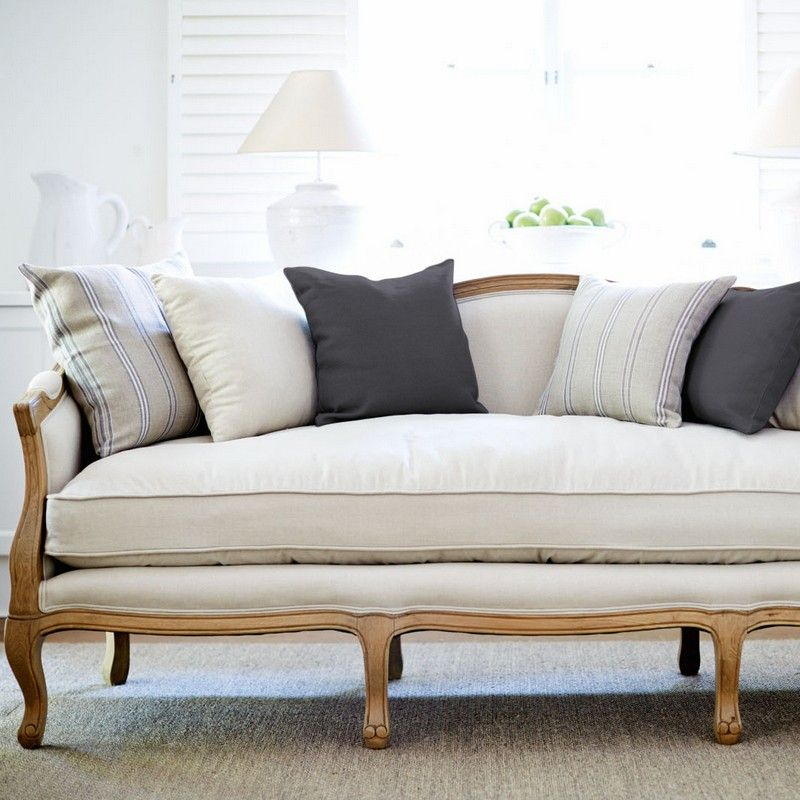 French Provincial Sofa Oak Frame 3