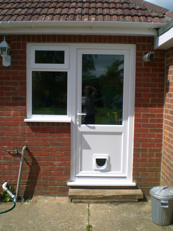 Pvc Door With Cat Flap Door Design External Doors Doors