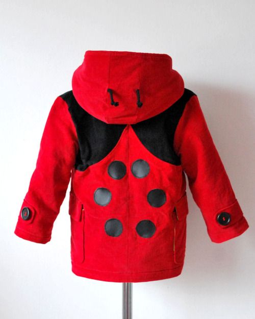 Fox, wolf, bee and ladybird coats by OliveAndVince on Etsy