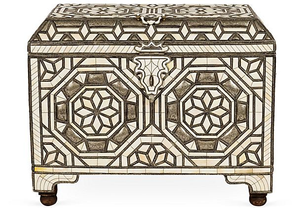 Ivory Inlay Treasure Chest Decorative Boxes Treasure Chest Inlay