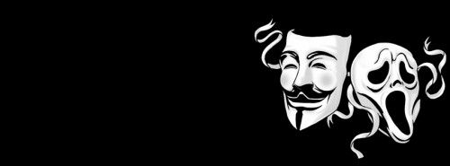 Anonymous Mask and Ghost Mask wallpaper with dark ...