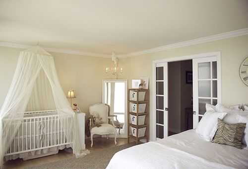 Suburbs Mama Nursery In Master Bedroom: Cute Crib Area In Master Bedroom