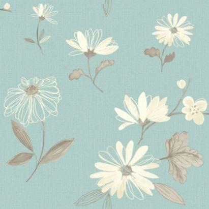 Arthouse Eco Charnwood Duck Egg Wallpaper, 5050192611510