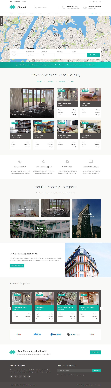 Villareal is modern real estate application kit for #realestate agencies or…