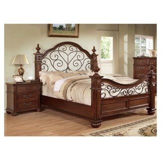 Barath Traditional Antique Dark Oak 2-piece Bedroom Set ...