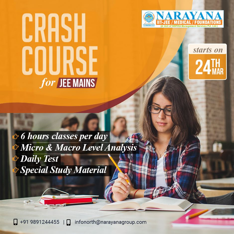 Strengthen your concepts for JEE Mains, focus the last few days of