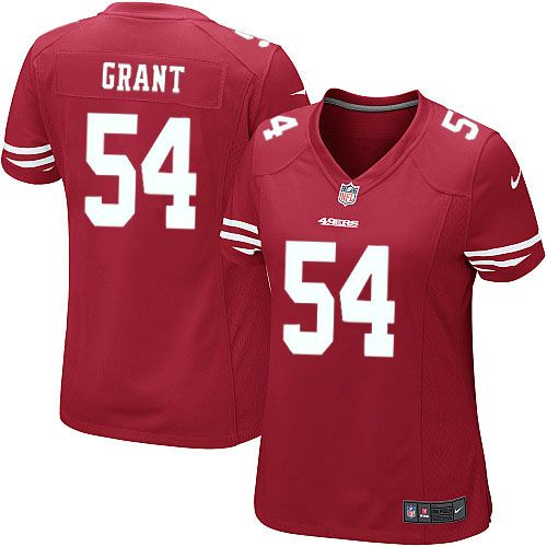 women nike san francisco 49ers 54 larry grant limited red team color nfl jersey sale