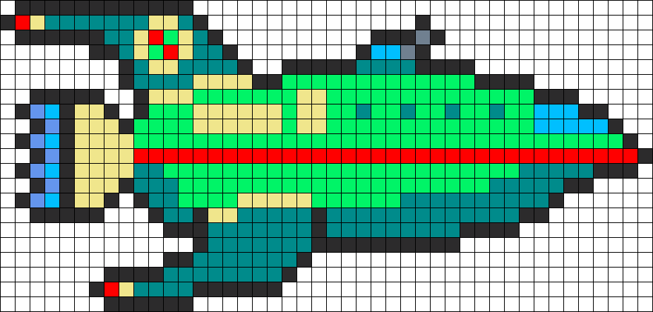 Planet Express Ship Perler Bead Pattern / Bead Sprite