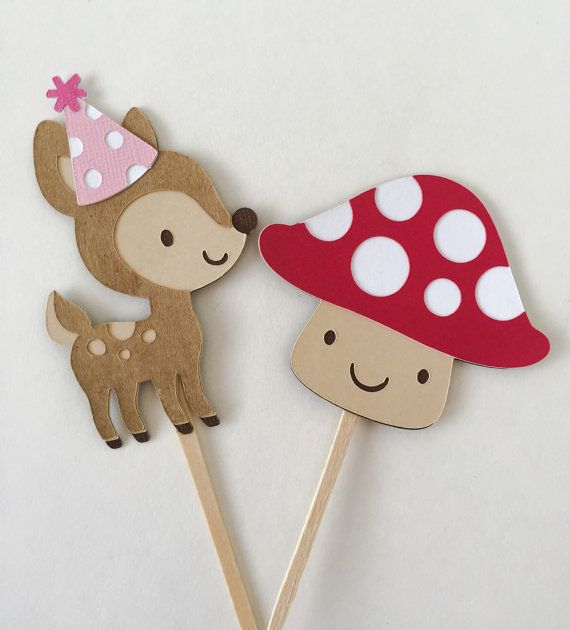 Chica Animal Toppers  chica bosque Toppers  decoraciones