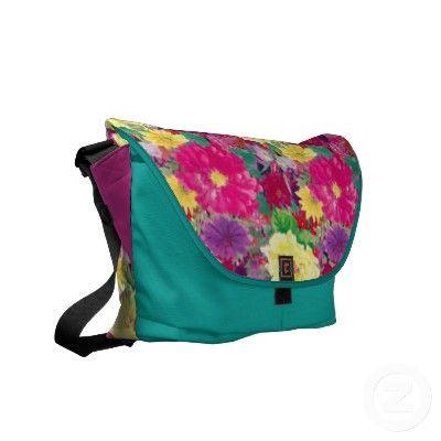 Beautiful Floral Garden Messenger Bag. $85.95