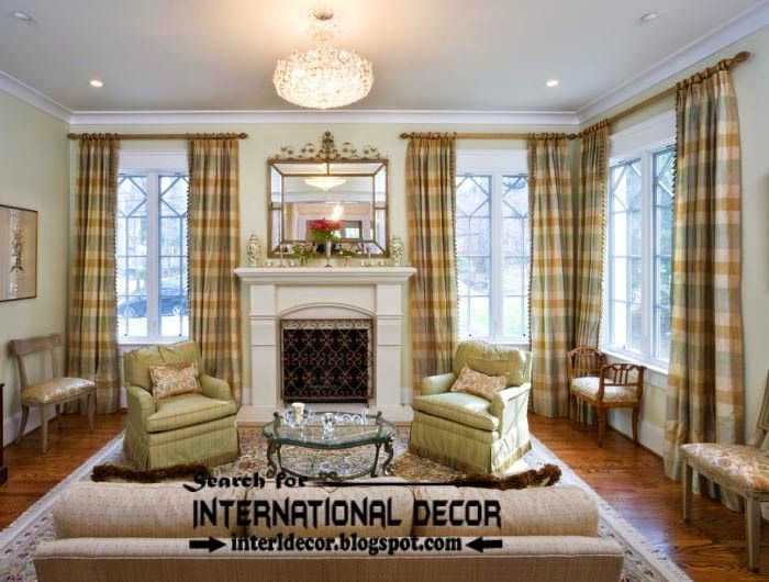 Top trends living room curtain styles, colors and materials ...