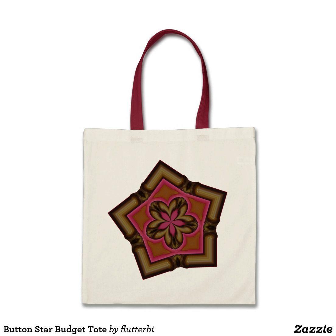 Button Star Budget Tote Tote Bag