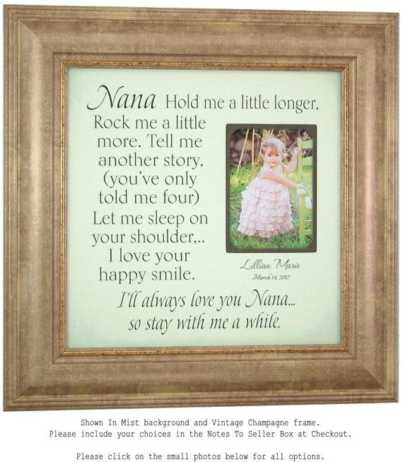 personalized picture frames nana gift gift for grandma grandmother gift by photoframeoriginals