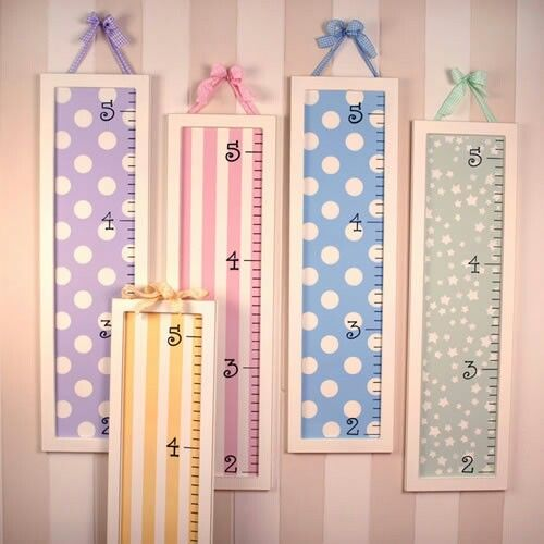 Framed height growth charts
