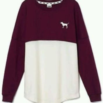 Victoria's Secret PINK NATION Varsity Sweatshirt Crew Neck ...