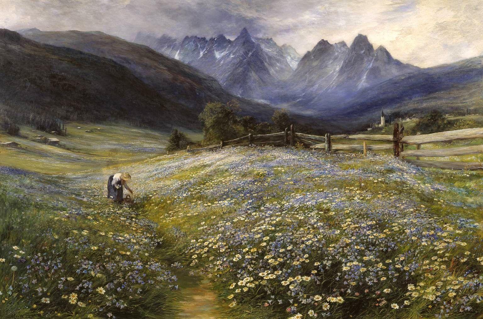 Le Prince Lointain: John MacWhirter (1839–1911), June in the Austrian ...
