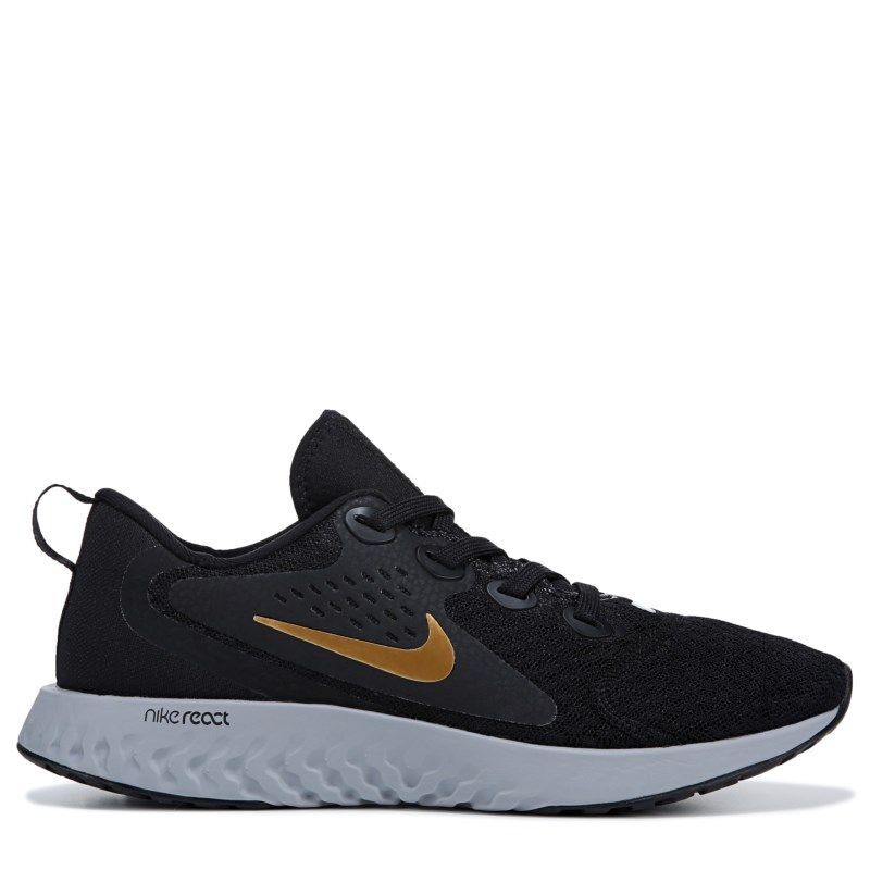 7b01536a16b4 Nike Women s Legend React Running Shoes (Black   Gold) in 2019 ...