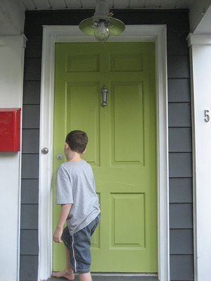 Before And After Front Porch Makeover Green Front Doors Green House Color Exterior House Colors