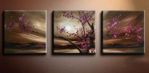 Asian Zen Oil Painting Hand Painted Wall Art 3 Piece Youniverseonline  Http://www.amazon.com/dp/B0054ZC2C0/refu003dcm_sw_r_pi_dp_oG92vb10CY5S0