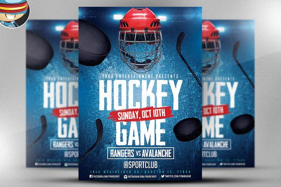 Ice Hockey Flyer Template 2 By Flyerheroes On Creativework247
