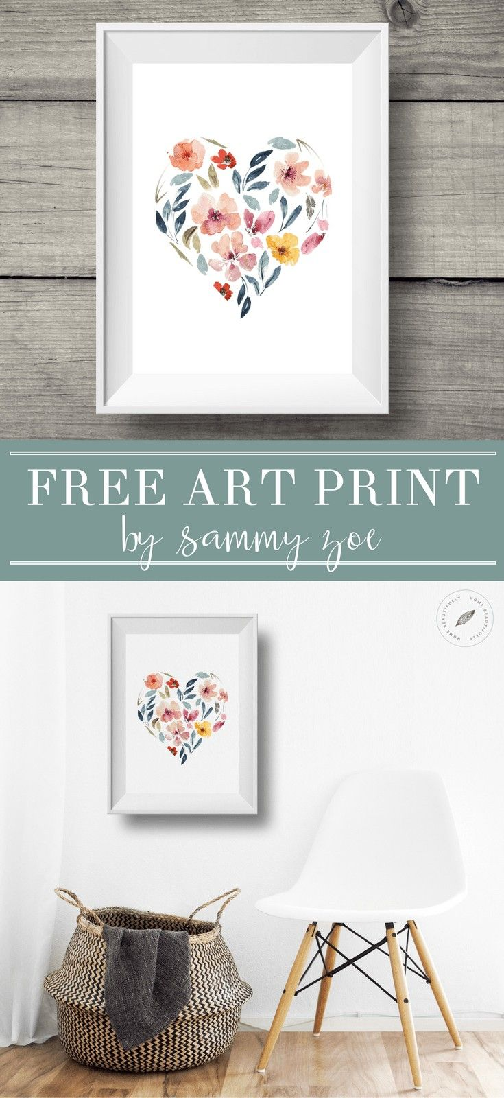 Download this gorgeous free watercolor print from sammy zoe