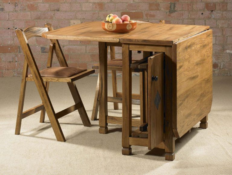 Elegant Folding Dining Table And Chair Set A Folding Dining Table For Small House Home Decor Di 2019